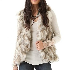 Free People Call of The Wild Reversible Faux Vest
